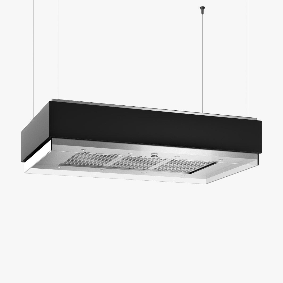 Produktbild på köksfläkten Estrad 100 cm i svart utförande.