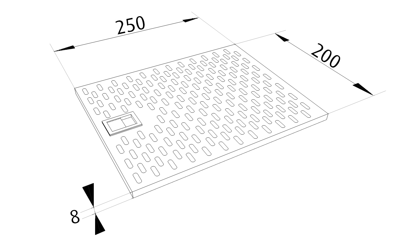 Fettfilter 250 x 200 RF