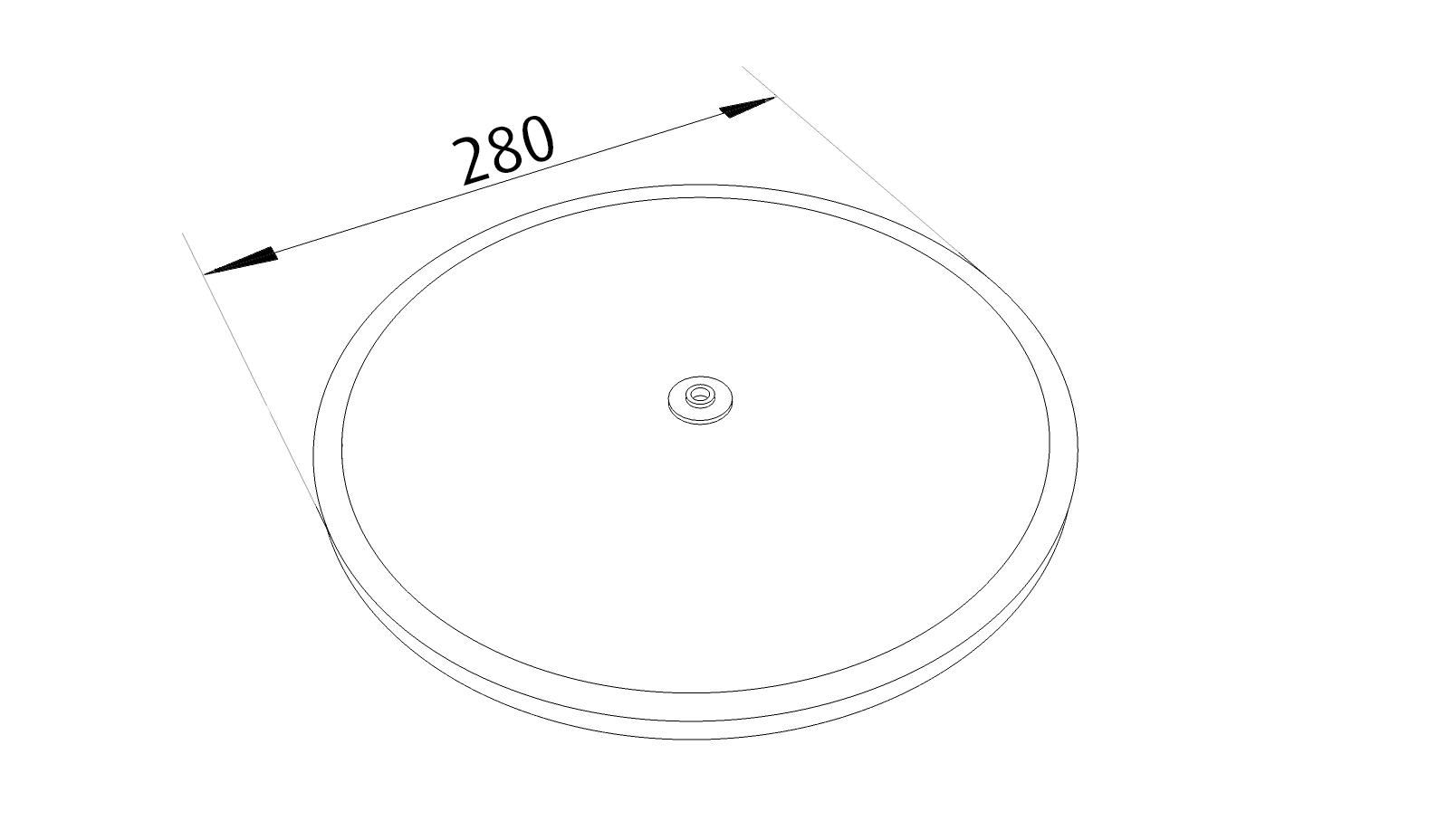 Fettfilter 280 mm Runt