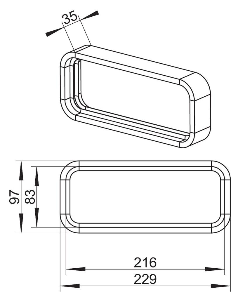 Profiltätning SF, PVC