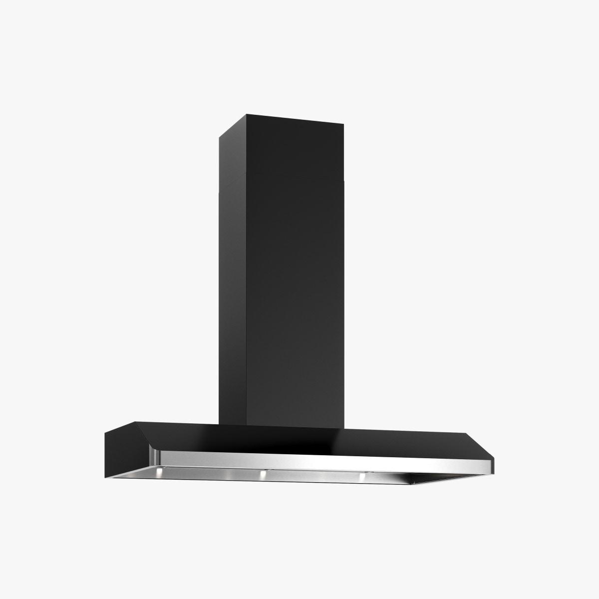 Produktbild på köksfläkten Replik 90 cm i svart utförande.
