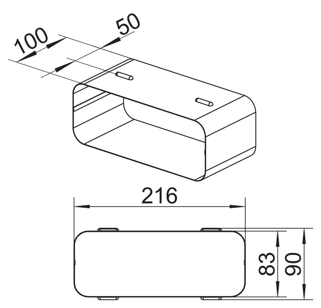 Röranslutning SF-RVB 150, galvaniserad aluminium
