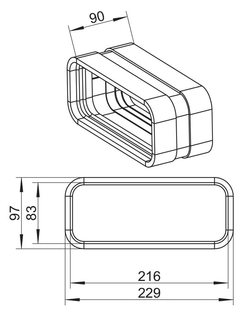 SF-VBS 150 Böjskarv (utv.anslutning)