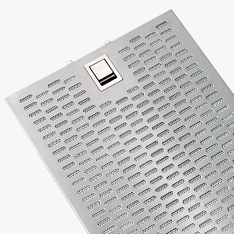 Designade fettfilter av aluminium som passar köksfläktar från Fjäråskupan.