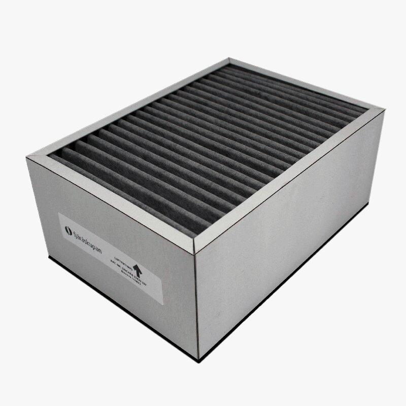 Produktbild på kolfilterkassett som används till Fjäråskupans kolfiltersystem InHouse.