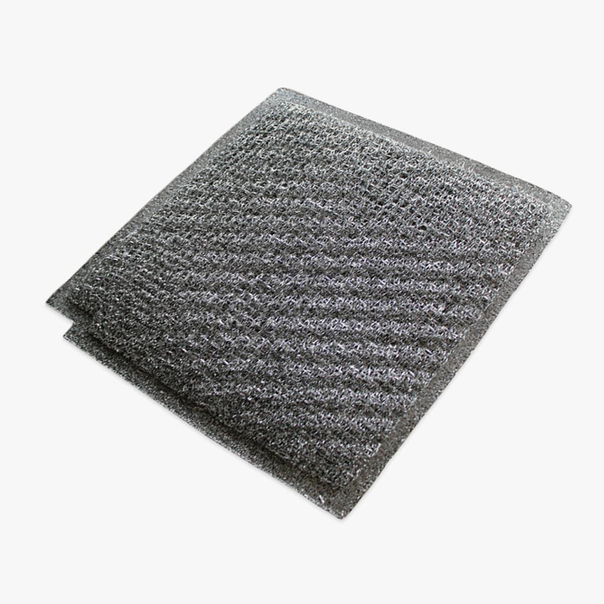 Närbild på trådfilter till köksfläktar från Fjäråskupan.