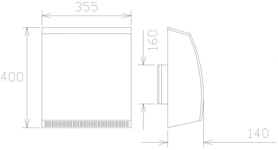FKH 160/Fasad/Frånlufthuv