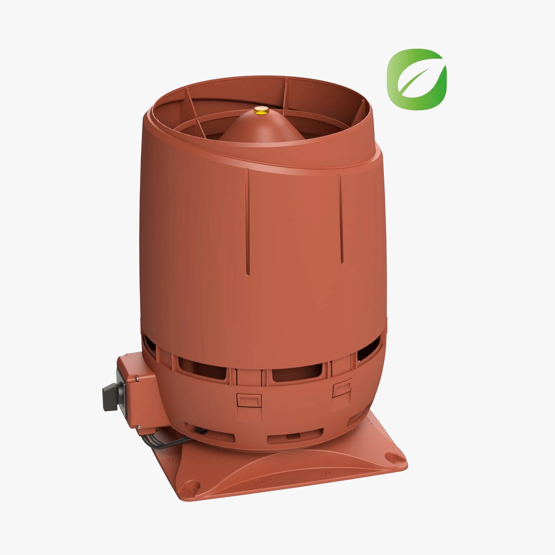 Produktbild på skorstensmotorn Vilpe FKS-ECO1610S i tegelrött utförande.