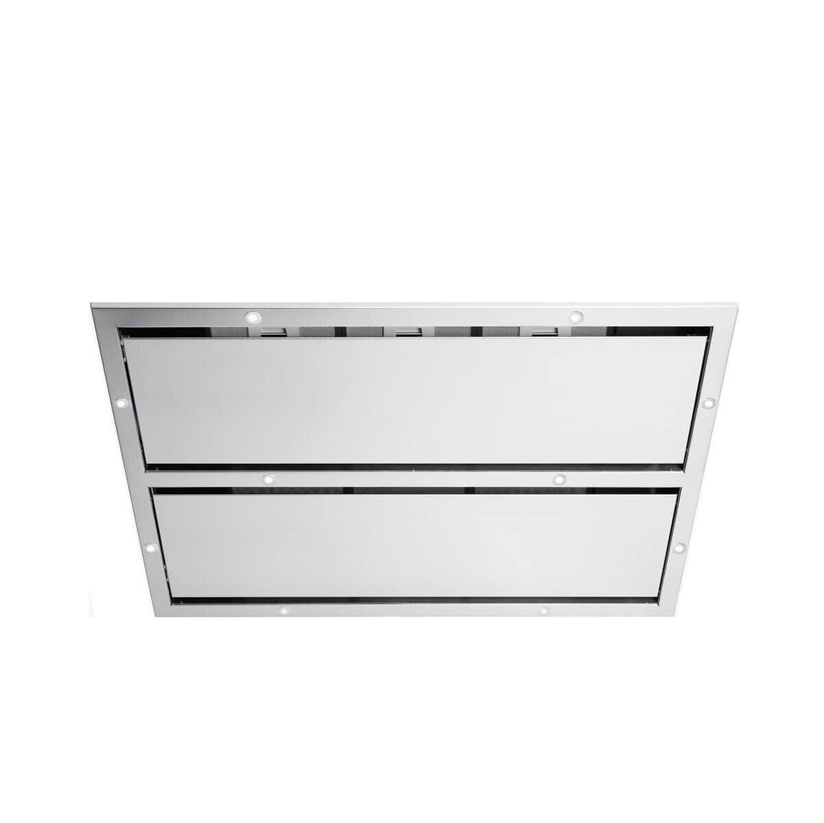 Produktbild på takintegrerade köksfläkten Panorama i rostfritt utförande från Fjäråskupan.