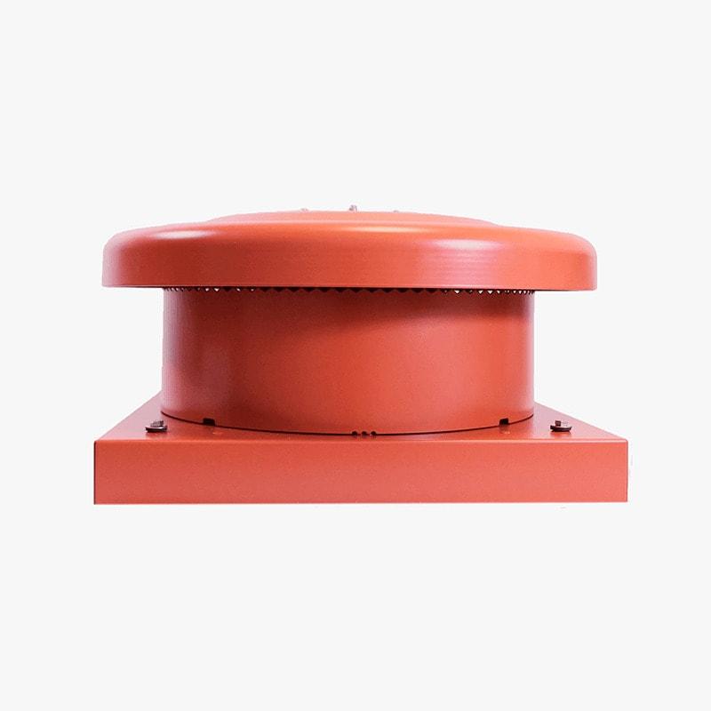 Produktbild på takmotorn FK ECo Flow i tegelrött utförande.