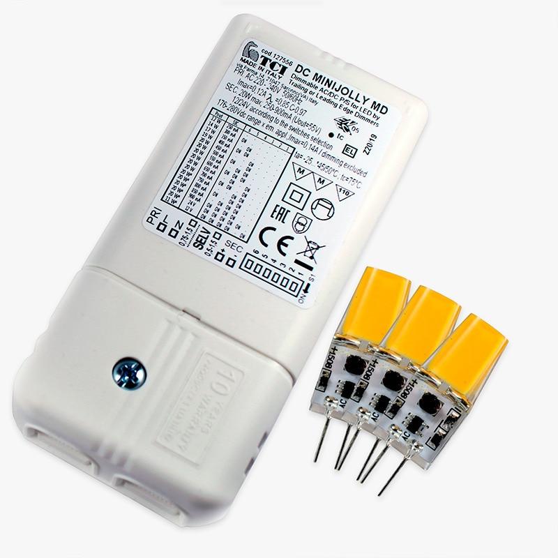 Konverteringskit - LED-driver + 3 lampor (Begränsad dimmerfunktion)
