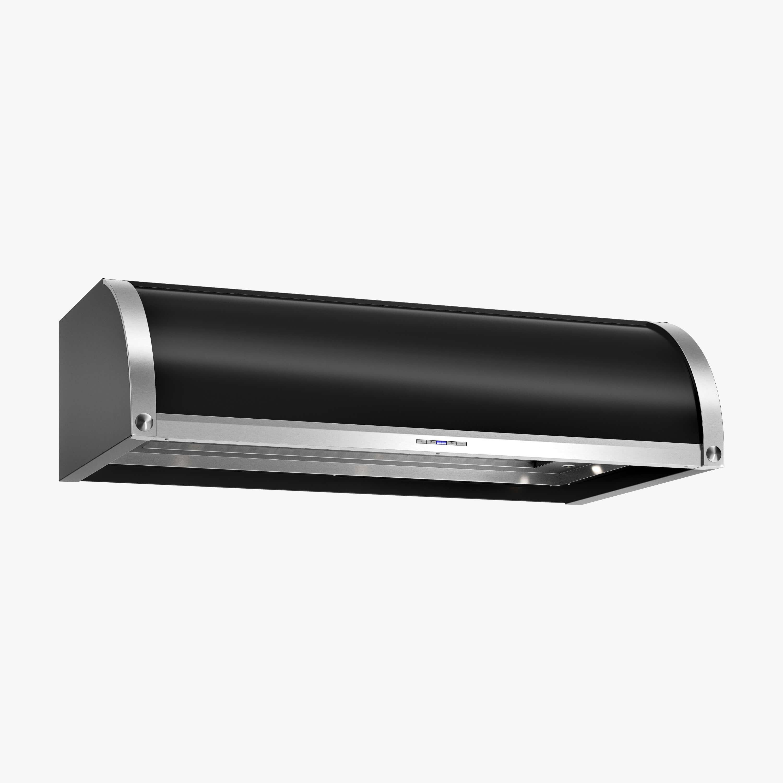 Produktbild på underbyggnadsfläkten Stil i svart utförande från Fjäråskupan.