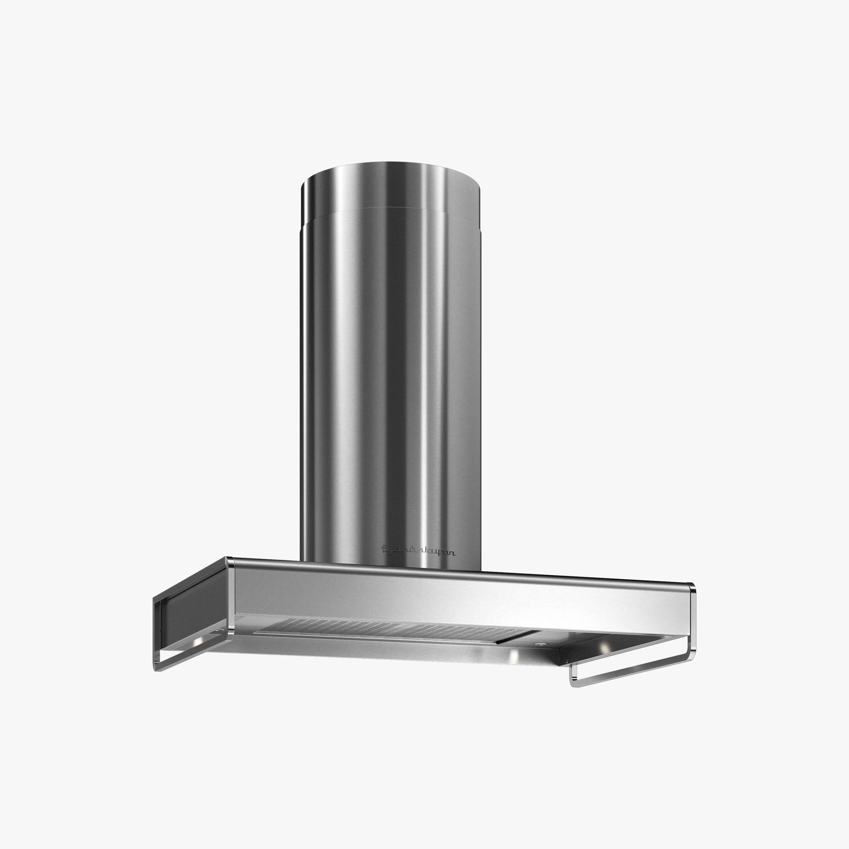 Produktbild på vägghängda köksfläkten Bistro i rostfritt utförande från Fjäråskupan.