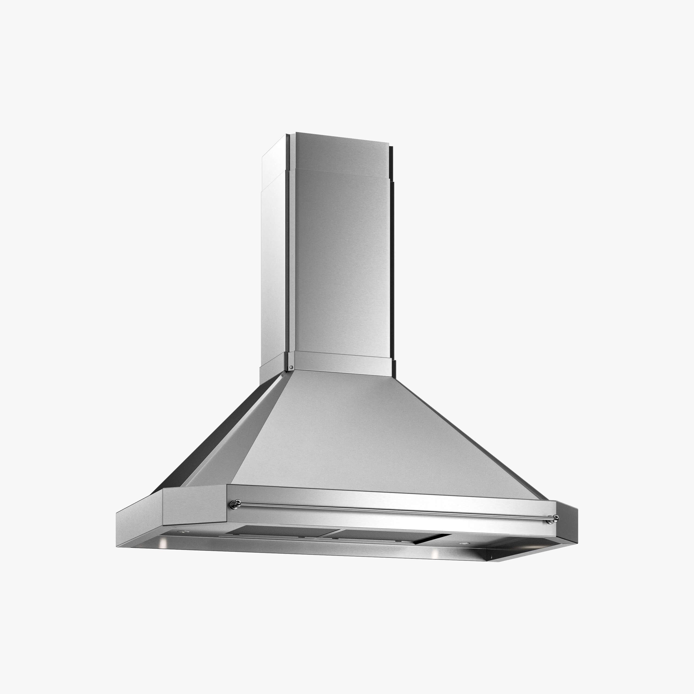 Produktbild på vägghängda köksfläkten Exklusiv i rostfritt utförande från Fjäråskupan.