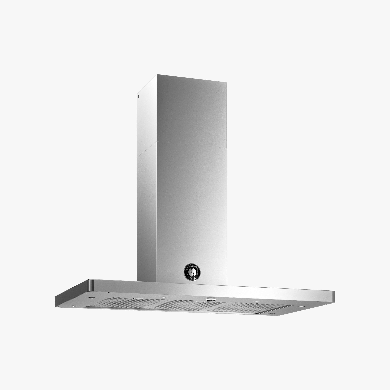 Produktbild på vägghängda köksfläkten Modul i rostfritt utförande från Fjäråskupan.