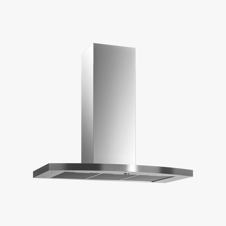 Produktbild på vägghängda köksfläkten Nivå i rostfritt utförande från Fjäråskupan.