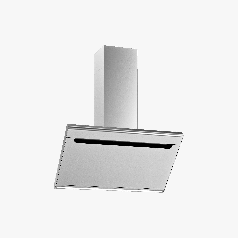 Produktbild på vägghängda köksfläkten Solo i rostfritt utförande från Fjäråskupan.
