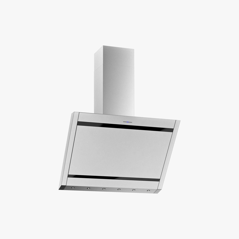 Produktbild på vägghängda köksfläkten Vertikal i rostfritt utförande från Fjäråskupan.